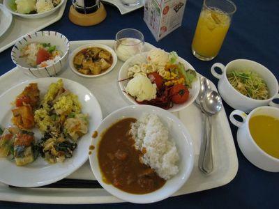 北中城村 『ホテルコスタビスタ沖縄』ランチバイキング盛り付け1